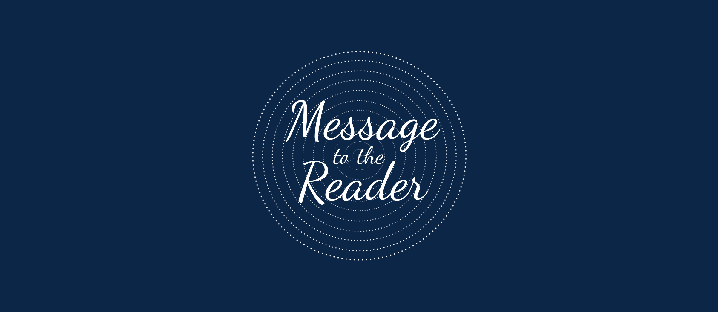 Message to the Reader from Conversations with Spirit