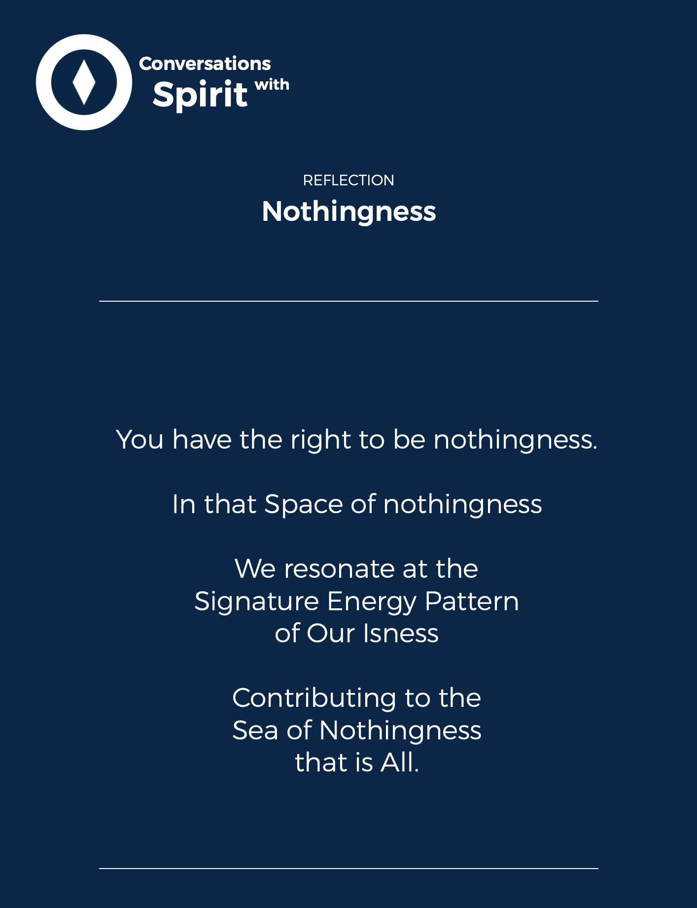 Reflective Prompt: Nothingness